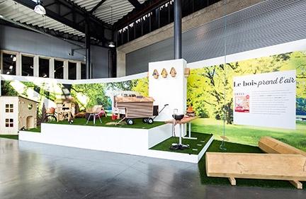 Expo Design  « Le bois prend l'air » Salon Bois & Habitat 2015